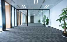 Empty Carpeted Office