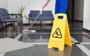 Wet Floor Cleaning Hazard Sign